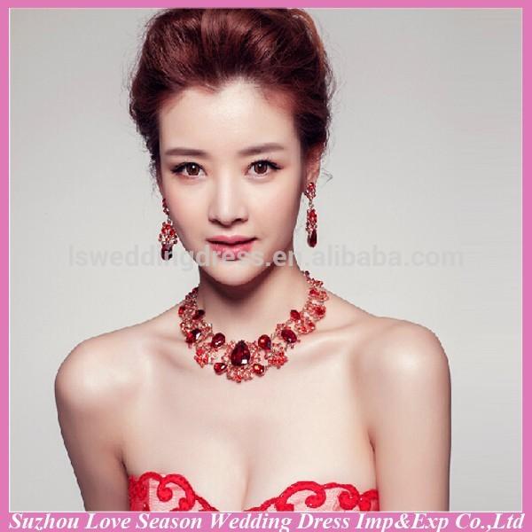wc0040 nova moda qualidade superior invory venda quente bonito brilhante baratos tradicional vermelho coral colar de chirstmas