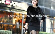 2014 fashion design new style ladies pretty elegant mink fur coat