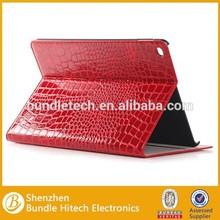 Crocodile Leather Case for iPad Air 2, pu leatherstand case for ipad 6