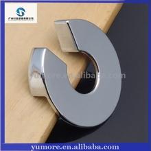 Well design modern chromium metal drawer handles