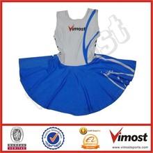 Colorful top custom made netball jersey ladies netball skirts
