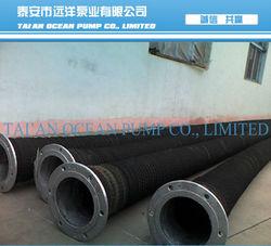 """wear resistant flexible rubber 4"""" suction hose"""