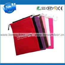 High quality new products famous brand velvet gift bag
