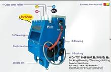 Laser toner refilling machine/toner cleaning machine
