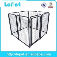 black modular dog run fence panels