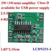 3W+3W Class D digital audio mini amplifier module ,usb power supply