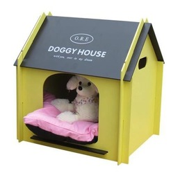 Wooden indoor dog house pet kennel room villa