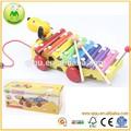 popular cadena de perro tire xilófono hecho a mano juguetes para los niños