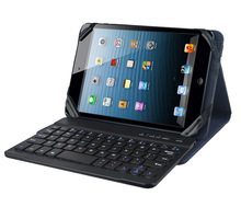 Universal wereless bluetooth keyboard tablet leather case