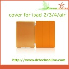 2014 High quality and hand holder new smart PU leather cover for ipad