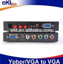 VGA/YPbPr to VGA Converter, YPbPr + RCA R/L + VGA + audio input, VGA output converter