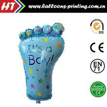 [HOT] Big Feet Foil Balloons Baby Shower Decor Boy Helium Balloon