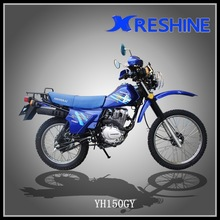 Riding cheap 150cc motorcycle on rough road