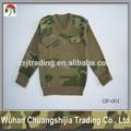Lã / poliéster camuflagem militar camisola