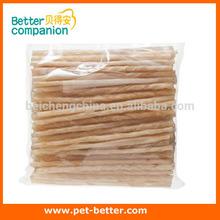 Pet treat natural rawhide stick dog chews