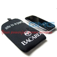 LOGO Printing New Design Promotional REAL Neoprene Cheap Zippered Mobile Phone Camera Case Cover Bag for IPHONE5 PLUS IPOD MP4
