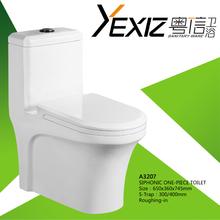 A3207 3L/6L Whole Sale Toilet Siphonic Flushing Single Toilet