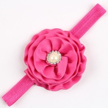 High quality fashion feather baby headband lace