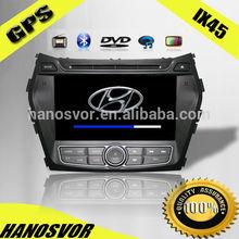Touch screen HD Car DVD GPS for hyundai santafe IX45 2012-2013 navigation with SD/USB/BT/TV/IPOD/4GB MAP /
