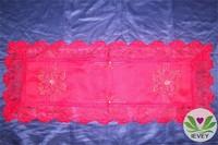 Beautiful fashionable Christmas luxurious ribbon cutwork embroidery tablecloth lmzc1003(3)