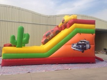 double lane high quality inflatable car slide/car slide