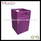 Purple Polyester hanging hamper laundry bag,laundry basket,laundry hamper