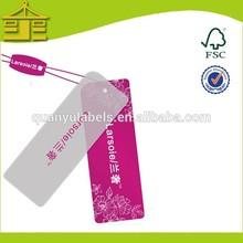 undertake plastic price tag printing,custom PVC swing plastic garment tag welcome OEM order