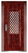 traditional steel door in door