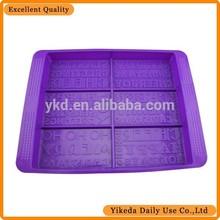 Tray silicone letras e número mould