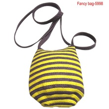 2014 Hot selling straw multi-function shoulder bag with long strap for girls