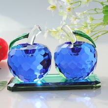 twin crystal apple for workmanship glass apples