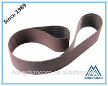 China grinding factory Songshan BXA61 Aluminum oxide hard cloth- narrow abrasive belt- joint sanding belts for auto machine