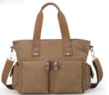 Fashion canvas travel shoulder bag for men