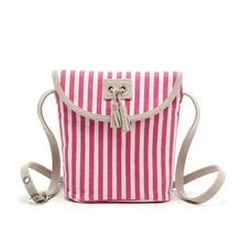 children canvas shoulder bag,promotiona stripe canvas bag for kids