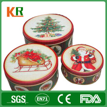 HangZhou factory round cookies tin