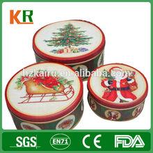HangZhou factory round cookies tin