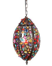 2014 Moroccan lanterns with colourful jewel pendant light NS-124026