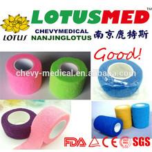 Stamping Medical Gauze Cohesive Bandage Tape Strong Elastic Non Woven Cohesive Bandage Residue Free