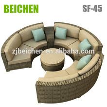 BEICHEN Milan Outdoor flower wicker Garden sectional sofa