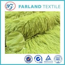 long hair plush fabric green pv velvet/plush fabric ,children plush boots fabric