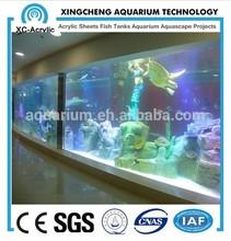 customized large cast transparent acrylic sheet aquarium oceanarium / acrylic sheet project / acrylic sheet oceanarium