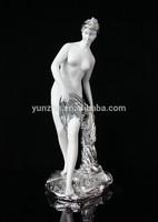 The resin nude woman body art sculpture