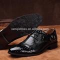 el diseño especial de lujo de la marca en relieve de cuero zapatos de vestir