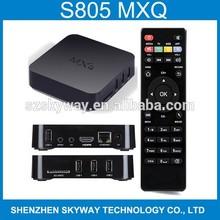 MXQ Amlogic S805 Quad Core Cortex A5 1.5GHz XBMC Android 4.4 Kitkat 4K 1GB/8GB XBMC WIFI Airplay Miracast 3D MXQ Android TV Box