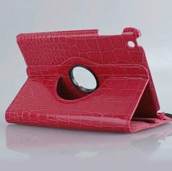 smart leather case for ipad mini, for ipad mini 360 rotating case
