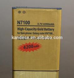 4200mah 3.7V mobile battery EB595675LU for samsung Galaxy Note2 N7100