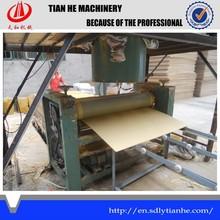 Plywood making coating machine