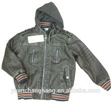 Children Clothing Boy's Fashion Jacket PU Leather Jackets Leather garments