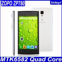 "ZOPO ZP780 Original Phones MT6582 Quad Core Mobile Phones 5"" 960x540 1GB RAM 4GB ROM 5MP+8MP Android 4.2 Dual SIM GPS 3G WCDMA"