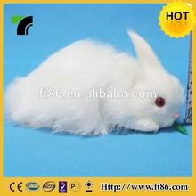 real looking unstuffed furry decorative rabbit brand new